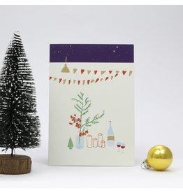Souci-illustration Wenskaart - Kerst - Kerst Tafel - Dubbele kaart + Envelope - 10 x 15cm