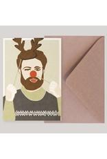 Souci-illustration Wenskaart - Kerst - Kerst Fotobooth - Postkaart + Envelope - 10 x 15cm