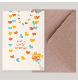 Souci-illustration Wenskaart - Have a Lovely Birthday - Postkaart + Envelope - 10 x 15cm