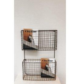 Madam Stolz Tijdschriftenrek- Brass - 34x50x10