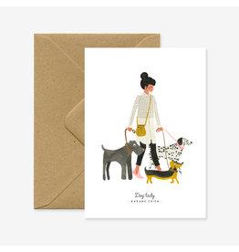 ATWS Wenskaart - Madam chien - Dubbele kaart + Envelop - 11,5 x 16,5 - Blanco