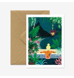 ATWS Wenskaart - Rio - Dubbele kaart + Envelop - 11,5 x 16,5 - Blanco