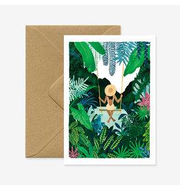 ATWS Wenskaart - Swing - Dubbele kaart + Envelop - 11,5 x 16,5 - Blanco