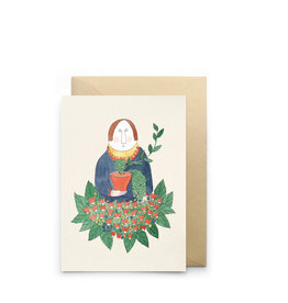 Petit Gramme Wenskaart - Oscar - Dubbele kaart + Envelop - 11,5 x 16,5 - Blanco
