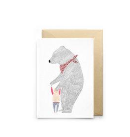 Petit Gramme Wenskaart - Petite Eponge - Dubbele kaart + Envelop - 11,5 x 16,5 - Blanco