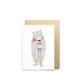 Petit Gramme Wenskaart -Echelle - Dubbele kaart + Envelop - 11,5 x 16,5 - Blanco