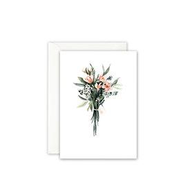 Leo La Douce Wenskaart - Boeketje Bloemen - Postkaart + Envelope - 10 x 15cm