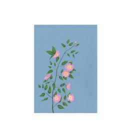 stengun drawings Wenskaart - Roses - Dubbele kaart + Envelope - 10 x 15cm