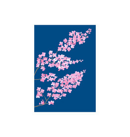 stengun drawings Wenskaart -Cherry blossom - Dubbele kaart + Envelope - 10 x 15cm