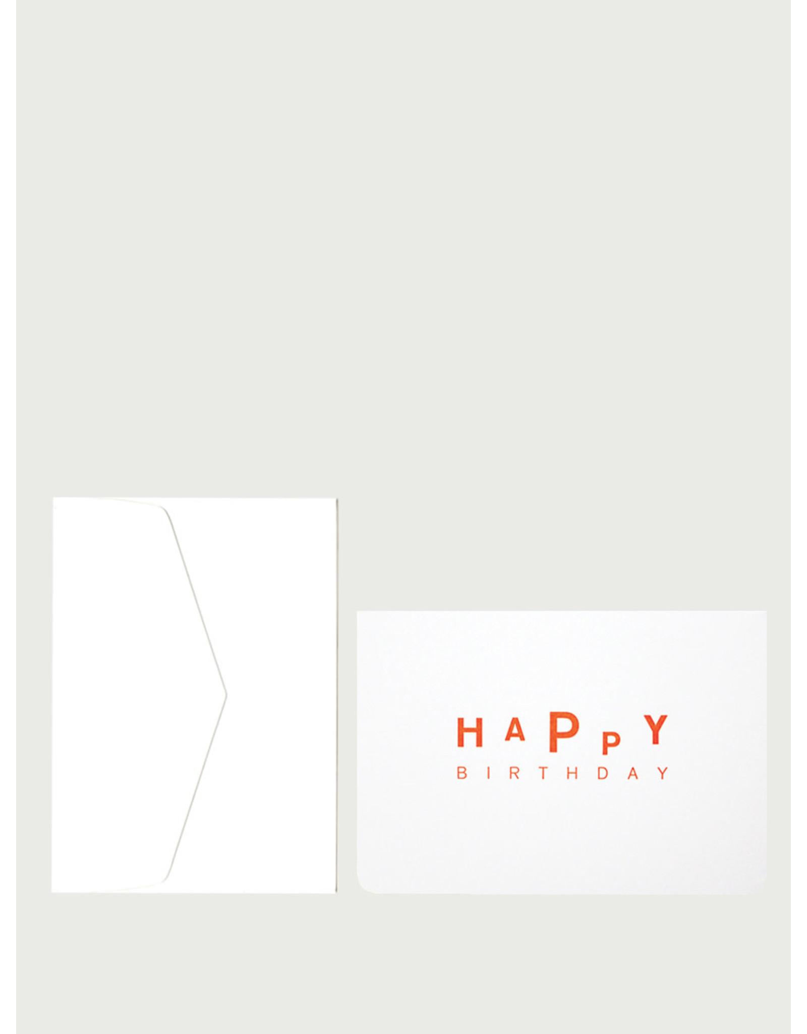 Le Typographe Wenskaart - HaPpy Birthday - Dubbele kaart + Envelope - 10 x 15cm