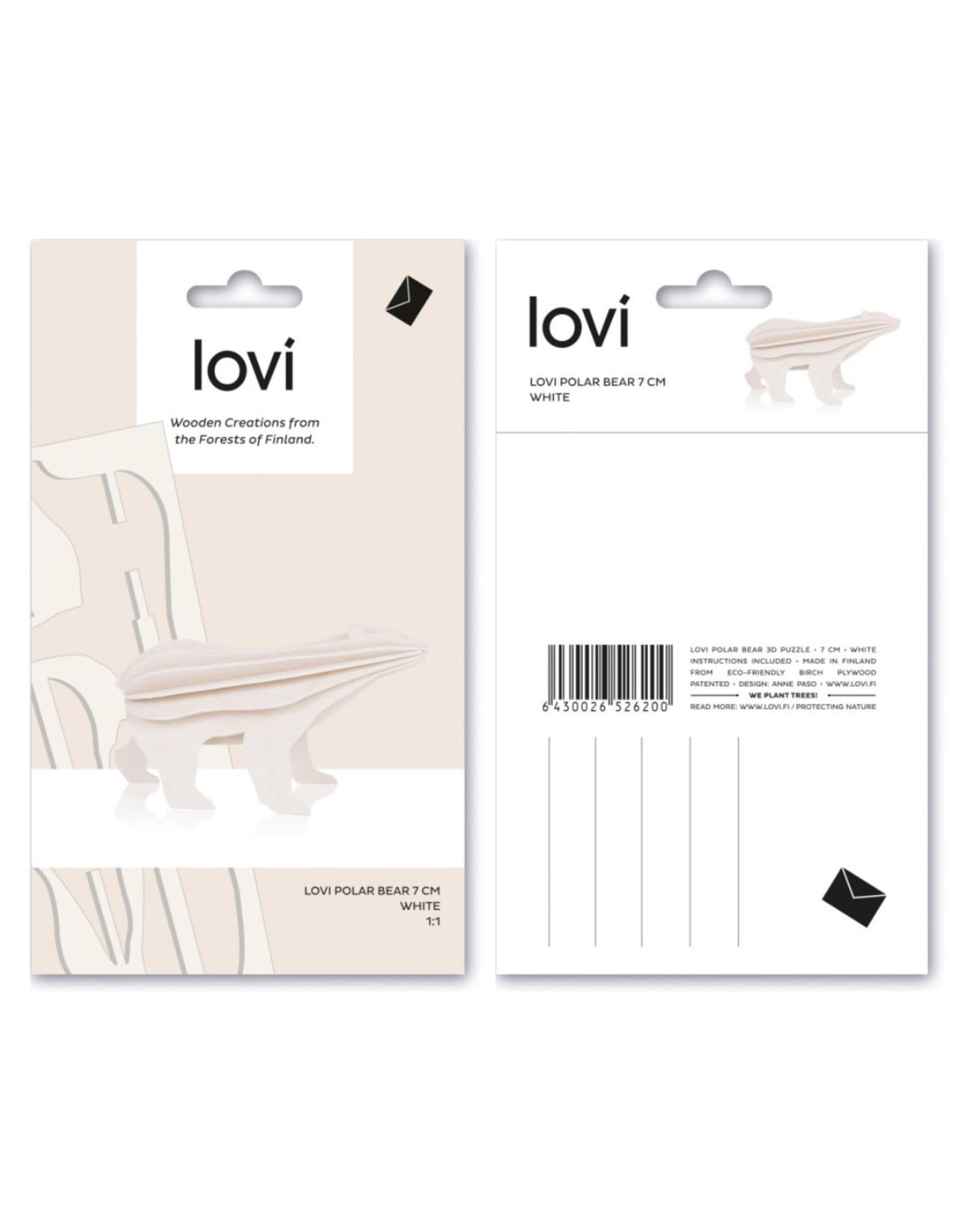 Lovi Wenskaart - Kerst- Ijsbeer 3D - 28 x 17,5