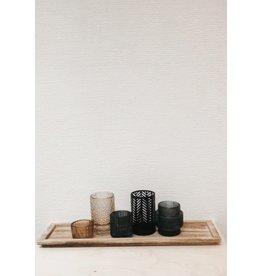Bloomingville Set 5 Theelichthouders + Houten Plank - 43,5 x 12 cm