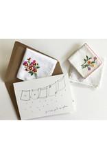 papillonage Wenskaart - Carré pour sécher tes larmes  - Dubbele kaart met envelop