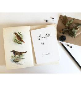 papillonage Wenskaart - S'emerveiller  - Dubbele kaart met envelop