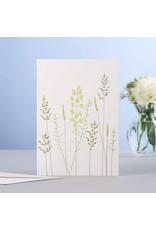 Eloise Halle Wenskaart - Meadow flowers & grass  - Dubbele Kaart + Envelop - 11,5 x 16,5 - Blanco