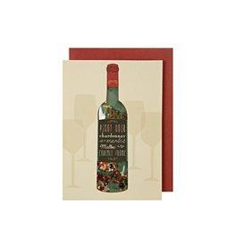 Meri Meri Wenskaart - Wine Shaker card + envelop - 10,5 x  23,5 - Happy Birthday