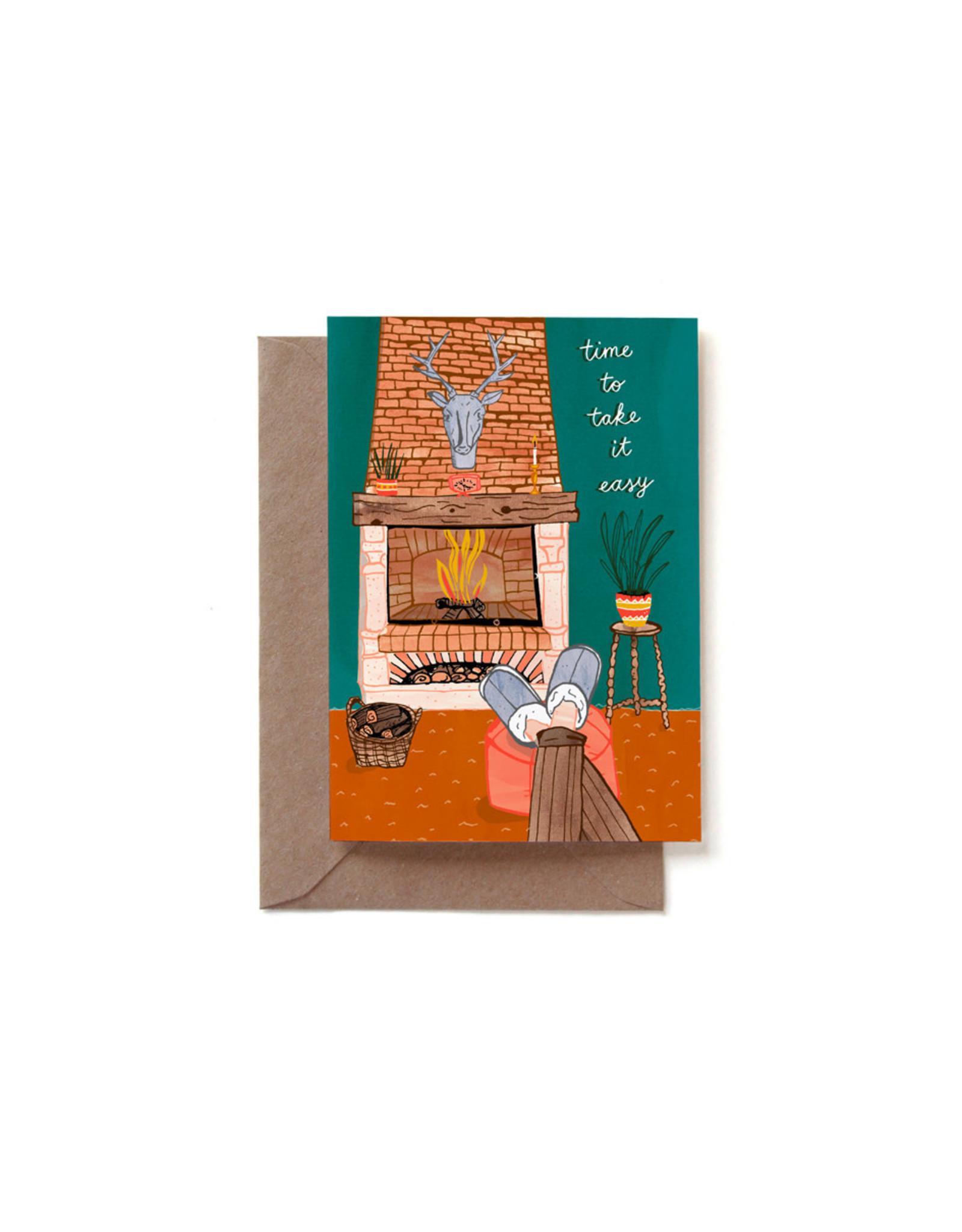 Reddish Design Wenskaart - Retirement - Dubbele kaart + Envelope - 10 x 15cm
