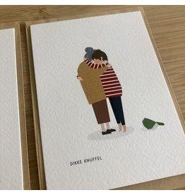 Brein Boerdrei Wenskaart - Dikke knuffel oma - postkaart met envelop - blanco
