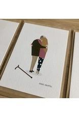 Brein Boerdrei Wenskaart - Dikke knuffel Opa - postkaart met envelop - blanco