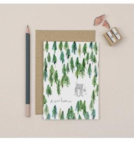 Plewsy Wenskaart -  New Home Bos - Dubbele Kaart met envelop - blanco