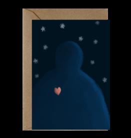 Ema Tudose Wenskaart - Forever in my heart - Dubbele Kaart met envelop - blanco