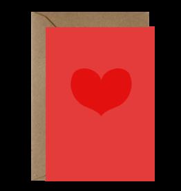 Ema Tudose Wenskaart - Heart - Dubbele Kaart met envelop - blanco