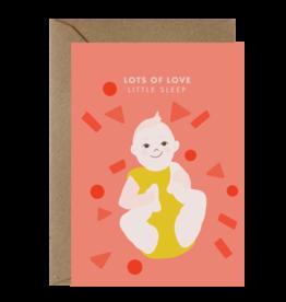 Ema Tudose Wenskaart - Lots of love baby - Dubbele Kaart met envelop - blanco