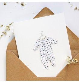 Pink Cloud Studio Wenskaart - Baby Body - Dubbele Kaart met envelop - blanco