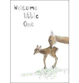 Dear Prudence Wenskaart - Welcome little one Bambi  - Dubbele kaart + Envelope - 10 x 15cm