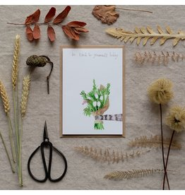 Dear Prudence Wenskaart - Be kind to yourself  - Dubbele kaart + Envelope - 10 x 15cm