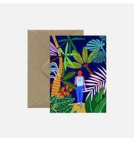 Pink Cloud Studio Wenskaart - Jungle walk - Dubbele Kaart met envelop - blanco
