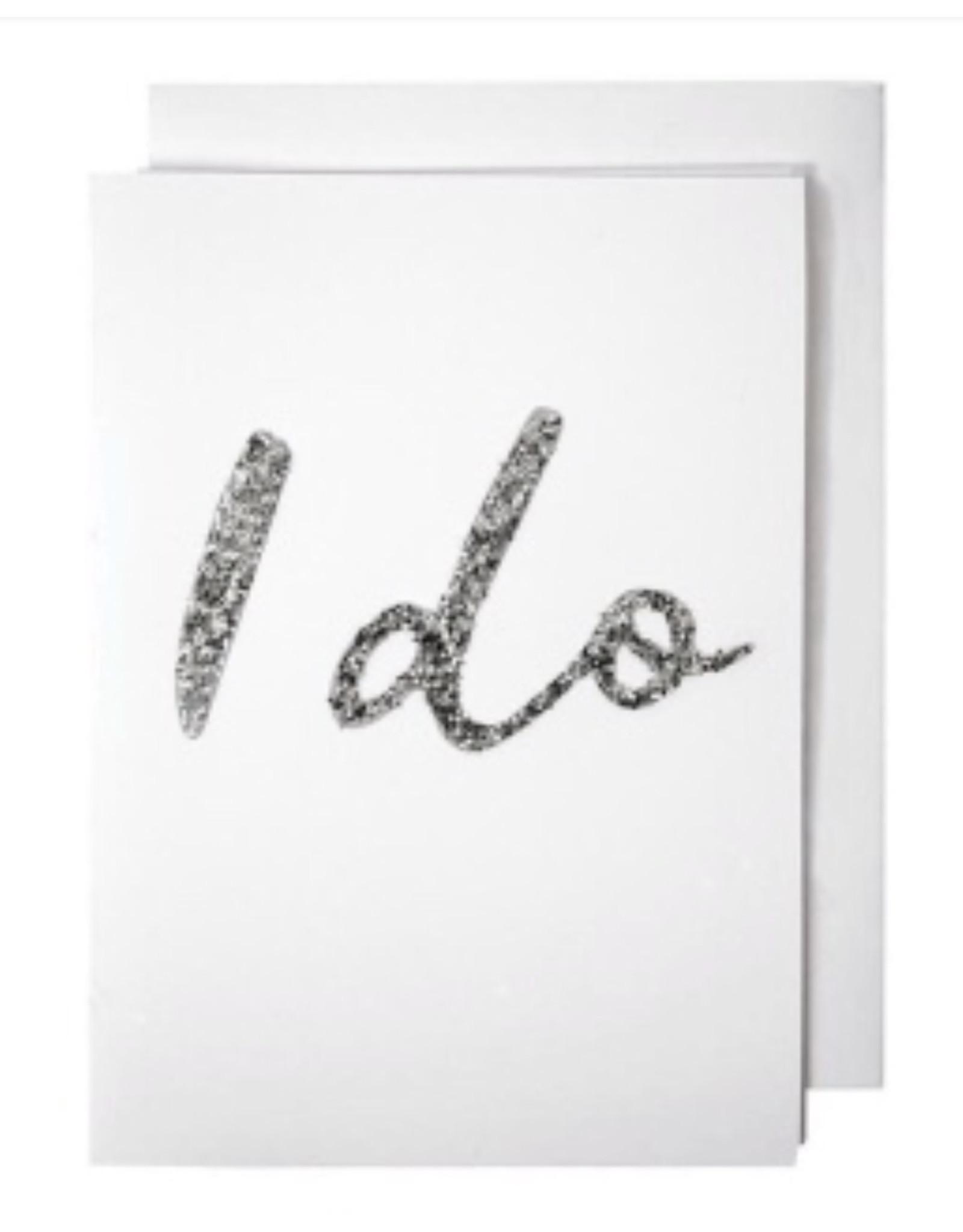 Meri Meri Wenskaart - I Do card + envelop - 10,5 x 23,5 - Congratulations