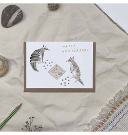 Dear Prudence Wenskaart - Alf & Shirley Happy Anniversary  - Dubbele kaart + Envelope - 10 x 15cm