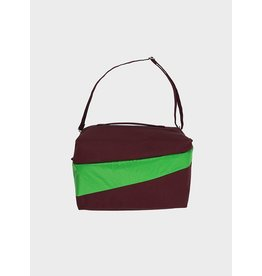 Susan Bijl 24/7 Bag - Bordeaux  & Greenscreen Groen - Weekendtas - 39,5 x 18 x 28 cm - 20l - Waterproof