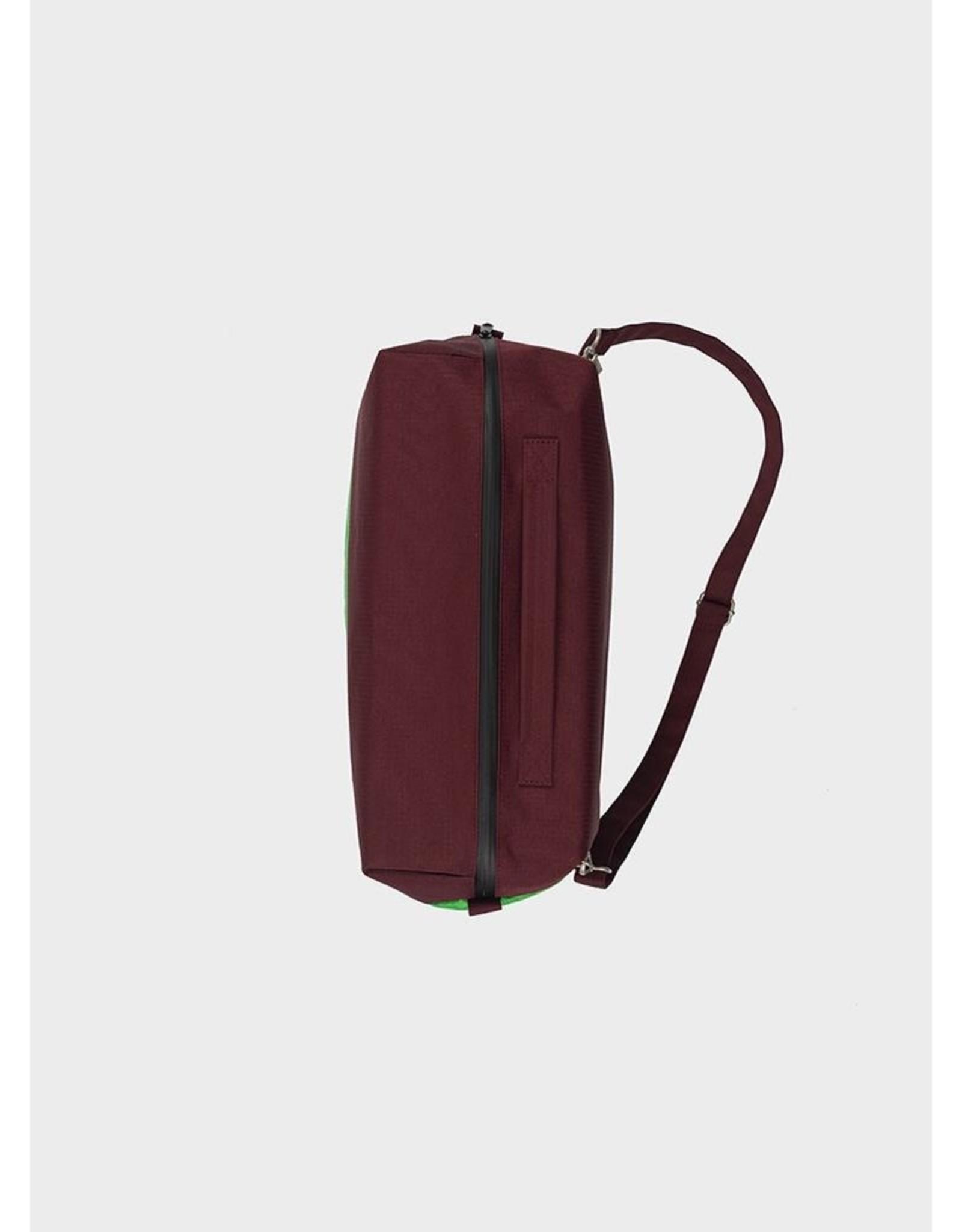 Susan Bijl 24/7 Bag - Bordeaux  & Greenscreen Groen - Weekendtas - 39,5 x 18 x 28 cm - 20l - Waterproof