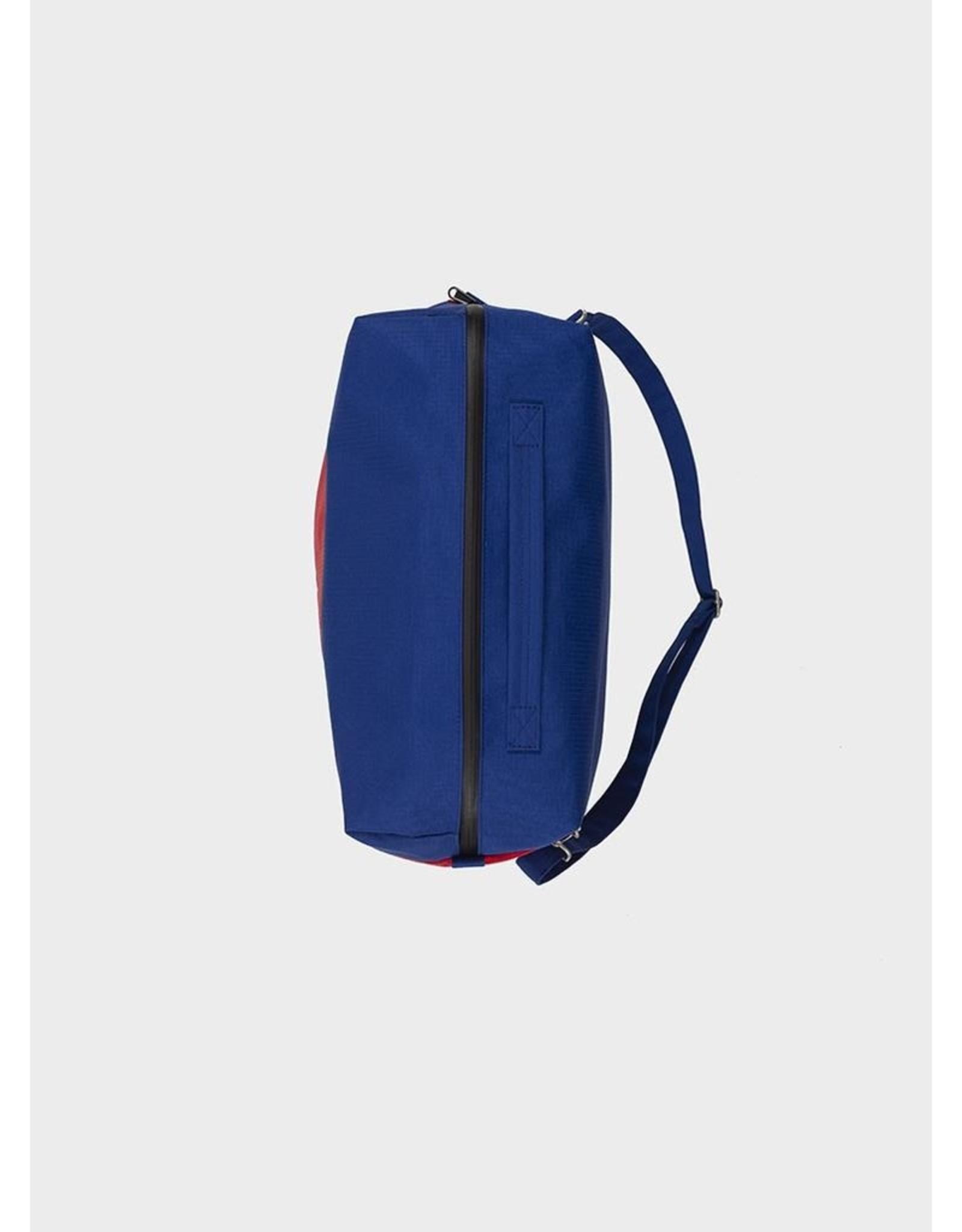Susan Bijl 24/7 Bag - Electric Blue & Redlight - Overnight bag - 39,5 x 18 x 28 cm - 20l - Waterproof
