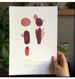 Ruthvandesteene Print ' Een Cactus' + Kader - 23,5 x 32 cm