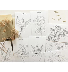papillonage Wenskaarten - des Fleur - 8st - 13,5 x 8,5
