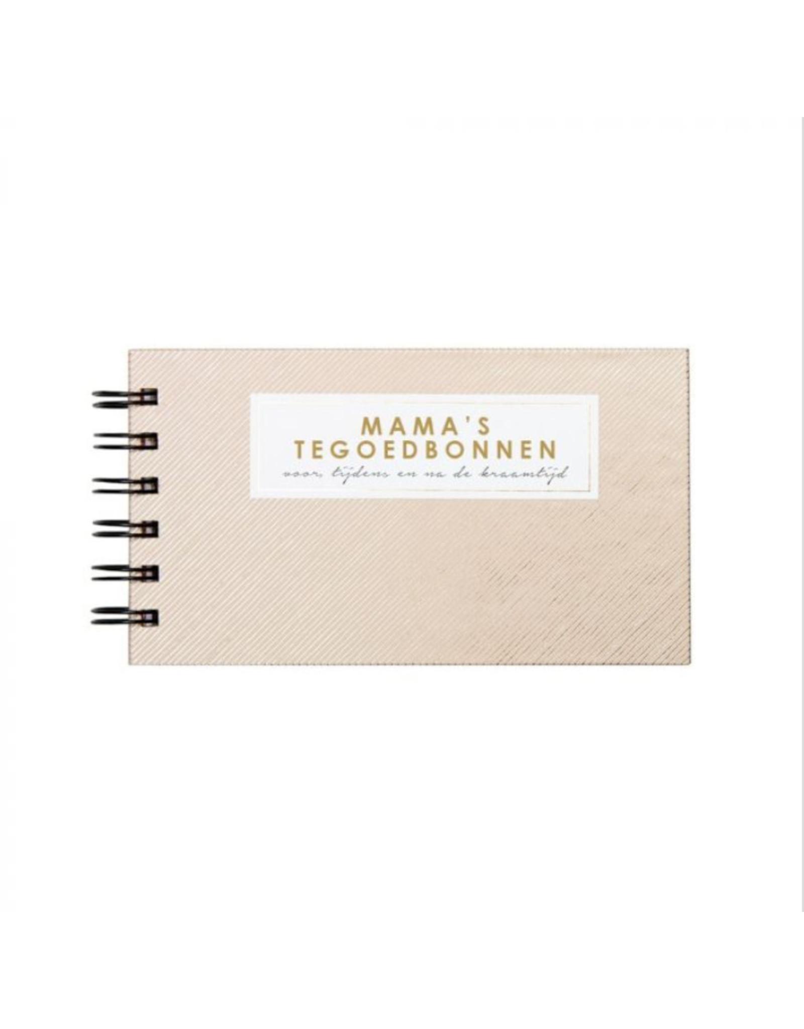 House of products Mama's tegoedbonnen - voor, tijdens en na de kraamtijd - 12 cadeaubonnen waarvan 1 blanco -  NL - Roze - Onderwerpen : homemade maaltijd, schoon huis, lunch, wassen en strijken en opvouwen, enz
