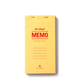 Jstory Memo bloc - don't forget - 8,5 x 16,5 - 100sheets