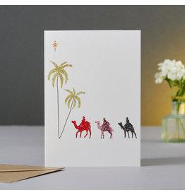 Eloise Hall Wenskaart - Three wise men - Dubbele Kaart + Envelop - 11,5 x 16,5 - Blanco