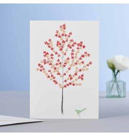 Eloise Hall Wenskaart - Maple tree - Dubbele Kaart + Envelop - 11,5 x 16,5 - Blanco