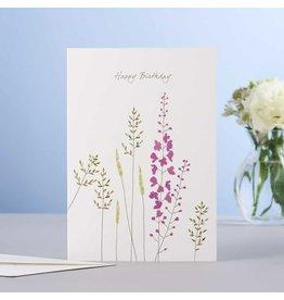 Eloise Halle Wenskaart - In the meadow birthday  - Dubbele Kaart + Envelop - 11,5 x 16,5 - Blanco
