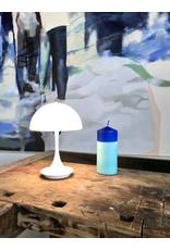 Studio-Sturmblau Kaars - Blokkaars - Blue  & Turquoise - 6,7 x 15 cm - Hand dipped - Brandtijd 20u