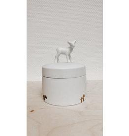 Raeder Pot met deksel - Hert  - Ø 10,5cm, H 6cm, H met deksel 8,5cm