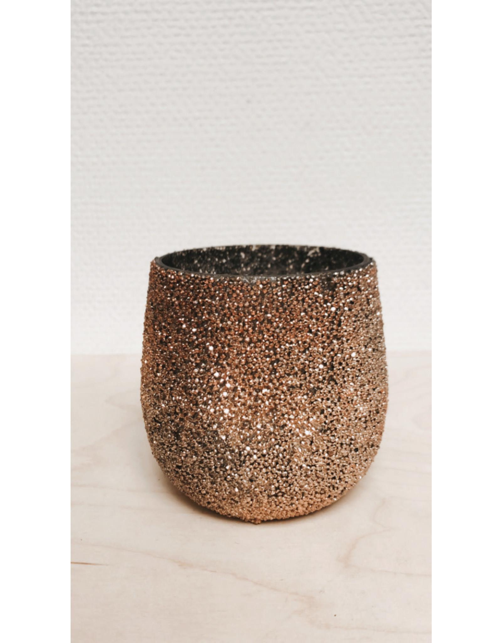 Madam Stolz Bloempot - kleine steentjes - Ø 10,5 cm, H 12,5cm