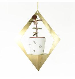 All the things we like Plantenhanger Gold - Matte diamand - 21 x 21 x 50 cm