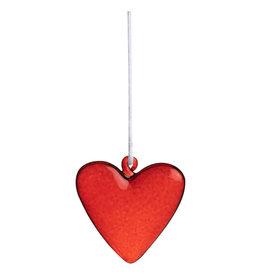 Raeder Hanger Hart - Rood - Glas - 4,5cm