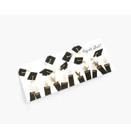 rifle paper co Wenskaart - Congrats Grad - Dubbele Kaart + Envelop - 11,5 x 16,5 - Blanco