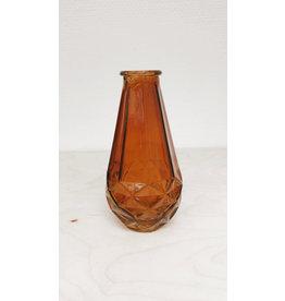 Vanremoortel Vaas - Amber - Diamand - Ø 7cm, H 14cm